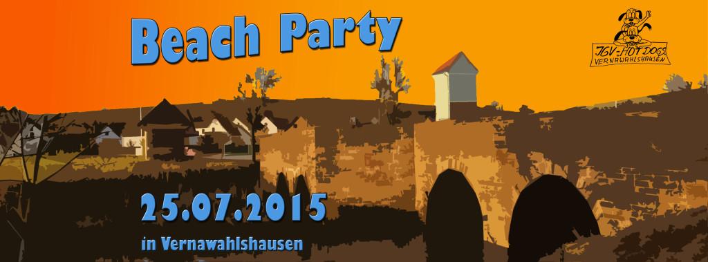 Beach Party BannerFB Ersatztermin 2015
